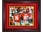 Joe Montana and Jerry Rice Autographed / Signed Framed 8x10 Photo