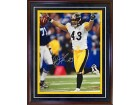Troy Polamalu Autographed / Signed Framed Interception Celebration 16x20 Photo