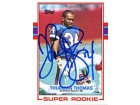 Thurman Thomas Autographed / Signed 1988 Topps Card