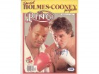 Larry Holmes & Gerry Cooney Autographed Magazine Cover PSA/DNA #Q95670