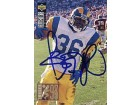 Jerome Bettis Autographed 1994 Upper Deck Images 93 Card #35 - Los Angeles Rams