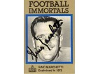 Gino Marchetti Autographed Football Immortals Card #75