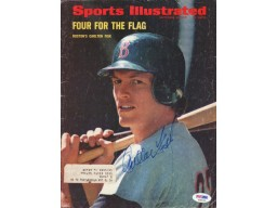 Carlton Fisk Autographed Sports Illustrated Magazine Cover Boston Red Sox PSA/DNA #S39124