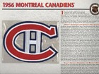 NHL 1956 Montreal Canadiens Official Patch on Team History Card
