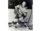 Harry Howell Autographed / Signed 8x10 Black & White Hockey Photo - New York Rangers