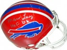 Marv Levy signed Buffalo Bills Riddell TB Mini Helmet HOF 01 silver sig