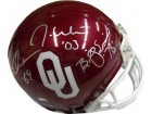 Oklahoma Sooners signed Oklahoma Sooners Heisman Trophy Winners Replica Mini Helmet- Signed by 3