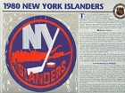 NHL 1980 New York Islanders Official Patch on Team History Card