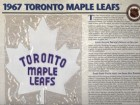 NHL 1967 Toronto Maple Leafs Official Patch on Team History Card