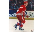 Luc Robitaille Autographed / Signed On Ice Detroit Red Wings Photo