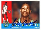 Bill Russell Autographed / Signed 2007 Topps No.BR60 Boston Celtics Basketball Cards