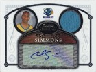 Cedric Simmons Signed 2007 Topps Bowman Sterling Game-Worn Jersey Rookie Card