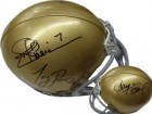 Notre Dame signed Notre Dame Replica Mini Helmet- signed by 3 quarterbacks