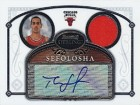 Thabo Sefolosha Signed 2007 Topps Bowman Sterling Game-Worn Jersey Card