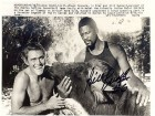 Bill Russell Autographed / Signed 7x9 Photo on the Set of Cowboy in Africa