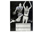 Paul Arizin Autographed / Signed 8x10 Black & White Stats Photo - Philadelphia Warriors