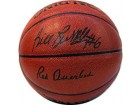 Bill Russell Red Auerbach  Autographed Indoor Outdoor Basketball