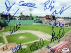 2005 Boston Red Sox Autographed 8x10 Photo With 11 Total Signatures Including John Olerud, Theo Epstein & Doug Mirabelli PSA/DNA #Q06590