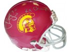 Steve Smith signed USC Trojans Replica Mini Helmet 2x Champs