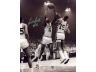 Bill Russell #6 Autographed Signed Black and White Basketball 8x10 Photo