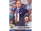 Larry Brown Autographed / Signed 1993 SkyBox NBA Hoops Card #240 Indiana Pacers