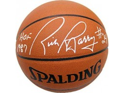 Rick Barry HOF 1987 Autographed / Signed Spalding Indoor / Outdoor Basketball NBA Greatest 50