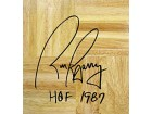 Rick Barry HOF 1987 Autographed / Signed Parquet Floor NBA Greatest 50