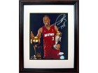 Dwyane Wade Holding 2 Trophies Signed 8x10 Framed Photo
