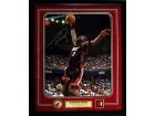 Dwyane Wade Game Used Jersey Piece w/ Signed 16x20 Photo