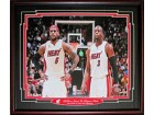 LeBron James & Dwyane Wade Miami Heat 8x10 Framed