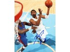 Nene Autographed / Signed Denver Nuggets Basketball 8x10 Photo