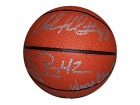 Udonis Haslem And James Posey Signed Mini Basketball