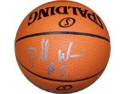 Dorell Wright Autographed/Signed Basketball Leather