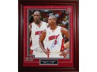 Dwyane Wade and Shaquille O'Neal Autographed / Signed Framed 16x20 Photo