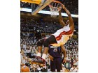 Shaquille O'Neal Autographed / Signed Dunk vs. Mavericks Miami Heat 8x10 Photo