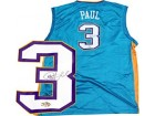 Chris Paul Autographed / Signed Teal New Orleans Hornets Replica Jersey
