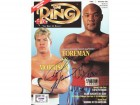 George Foreman & Tommy Morrison Autographed Magazine Cover PSA/DNA #Q95668
