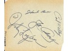 1958 Milwaukee Braves Autographed Album Page Hank Aaron & Others PSA/DNA #D84757