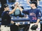 Joe Mauer & Joe Nathan Autographed 8x10 Photo Minnesota Twins PSA/DNA #Q97348