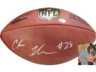 Chris Johnson signed NFL Wilson Official Duke Football #28 (Arizona Cardinals/Tennessee Titans)