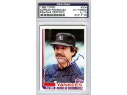 Aurelio Rodriguez Autographed 1982 Topps Card #334 New York Yankees PSA/DNA #83317118
