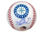 Ichiro Suzuki Autographed Official Logo Baseball Seattle Mariners IS Holo Stock #22864