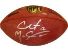 Colt McCoy signed Official NFL Wilson Duke Football w/ #12- McCoy Hologram