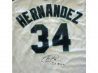 "Felix Hernandez Autographed White Seattle Mariners Majestic Jersey ""PG 8-15-12"" Size XL PSA/DNA Stock #33041"