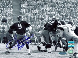 Sonny Jurgensen signed Washington Redskins B&W 16X20 Photo HOF 83- Jurgensen Hologram