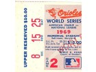 1969 World Series Game 2 Upper Reserved Ticket Stub Section 8 Row 15 Seat 25