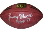 Lenny Moore signed Official NFL New Duke Football HOF 75