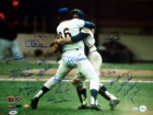 1969 Autographed 16x20 Photo New York Mets With 19 Signatures Including Nolan Ryan & Tom Seaver PSA/DNA Stock #14456