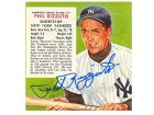 Phil Rizzuto Autographed / Signed 1954 Red Man Chewing Tobacco 3x3 Card