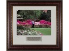 Tiger Woods 2002 Masters Azaleas #13 16x20 Photo Custom Leather Framing